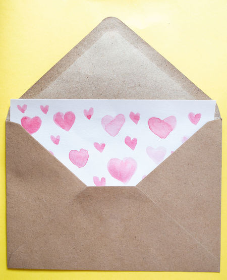 Close-up of heart shape on paper