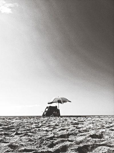 Black And White On The Beach Black & White