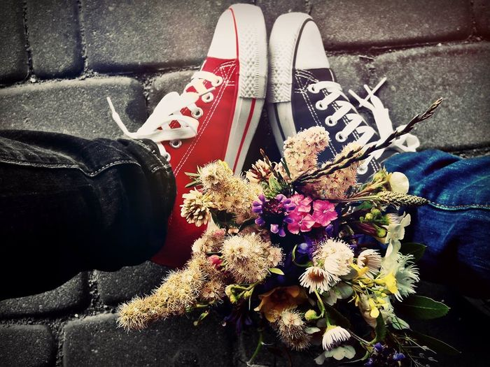 Uwielbiam Trampki Kwiaty Bukiet Friends Forever!