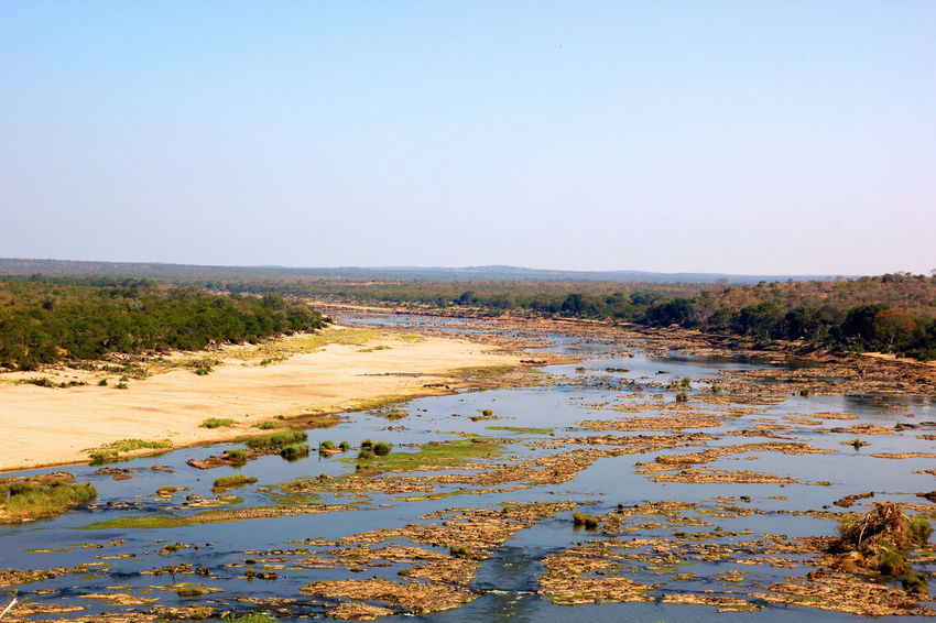 African Landscape Africa African Landscape Beauty In Nature Clear Sky Day Kruger Park Landscape Nature No People Outdoors Sand Scenics Sky South Africa Sun Tranquil Scene Water