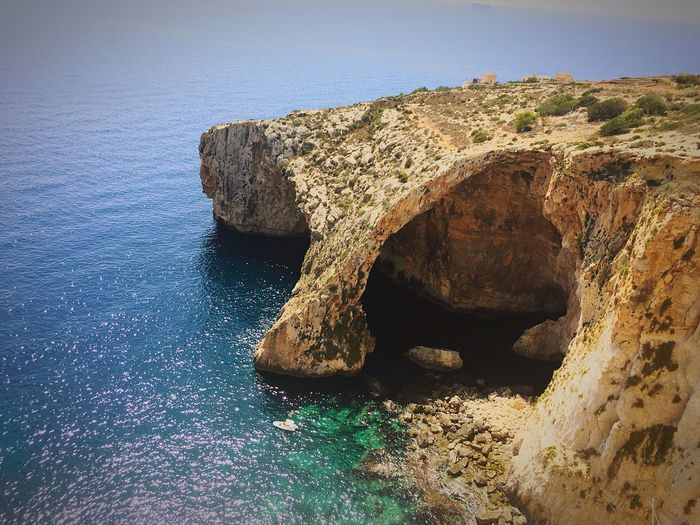 Blue grotto Water Sea Nature Sky No People Land Day Beach Scenics - Nature Tranquility Beauty In Nature Sunlight Rock First Eyeem Photo