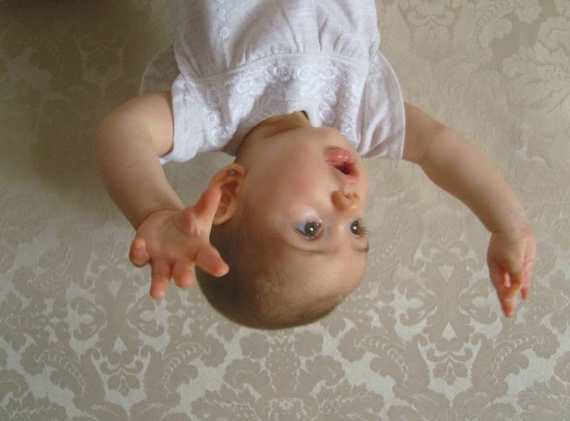 People And Places Upside Down Upsidedown Having Fun! Babygirl Baby Little Girl Down The New Up Feet Up Having Fun Playing Playtime Big Eyes Short Hair Dark Eyes Upside Downside Up Downside  Swinging Hands Up Hands In The Air Hands Up In The Air Little Hands Baby Hands  Open Mouth