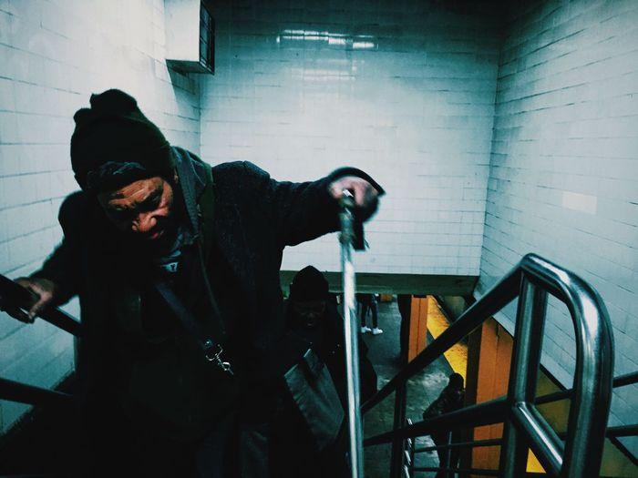 Man standing indoors
