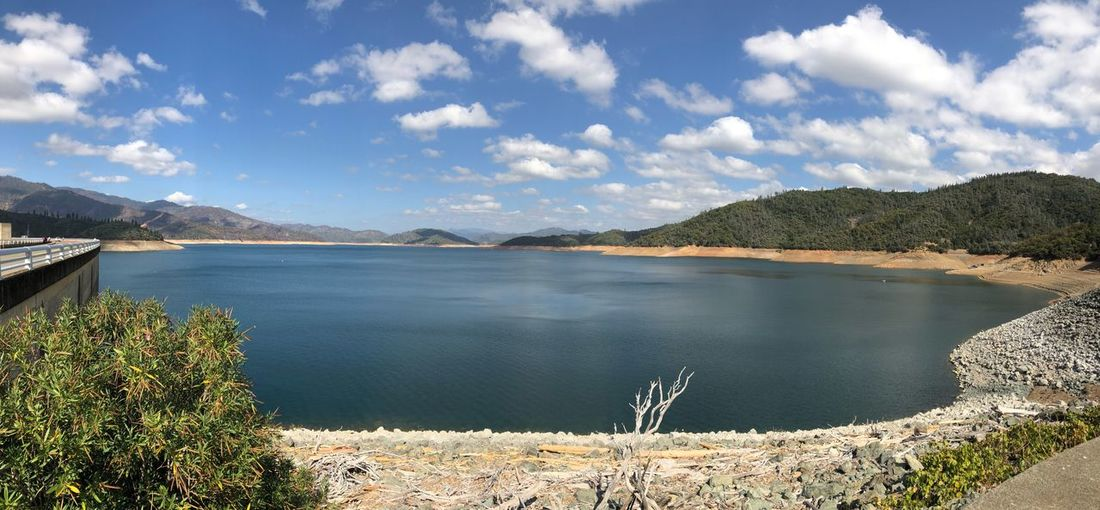 Panorama Shasta Dam Shasta Lake Cloud - Sky Water Sky Beauty In Nature Scenics - Nature Tranquil Scene Tranquility Lake Outdoors No People Nature
