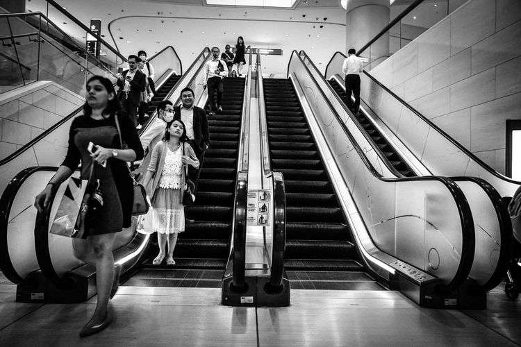 Black & White Blackandwhite HongKong Indoors  Low Angle View Steps And Staircases Street Photography