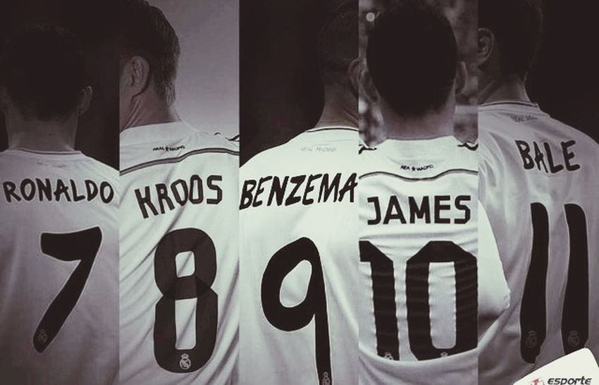 Cristiano RONALDO Rodriguez Karim Benzema Gareth Bale Real Madrid