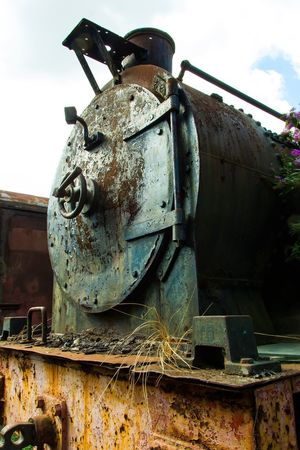 Old Train Train EyeEm Best Shots EyeEm Selects EyeEm Gallery Sky No People Nature Day Representation Transportation Sculpture Human Representation Low Angle View Sunlight Machinery Art And Craft Cloud - Sky Outdoors Creativity Old Metal Mode Of Transportation Close-up