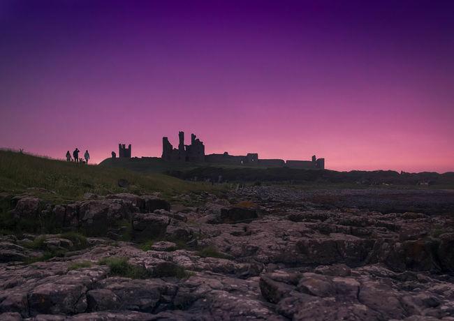 Ancient Architecture Ancient Ruins Castle Landscape Colour Dunstanburgh Dunstanburgh Castle Northumberland Northumberland Coastline Northumbria Ruin Ruins Sillohouette Sunset