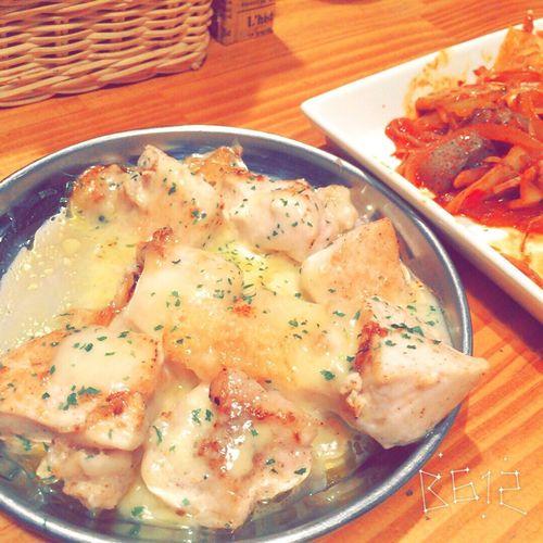 ムネ肉チーズ焼きといかゲソキムチ Beer Japanese Shochu Japanese Sake Chicken Kimchi