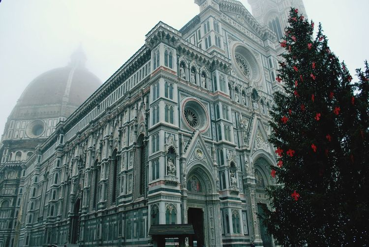 Low Angle View Of Duomo Santa Maria Del Fiore In Foggy Weather