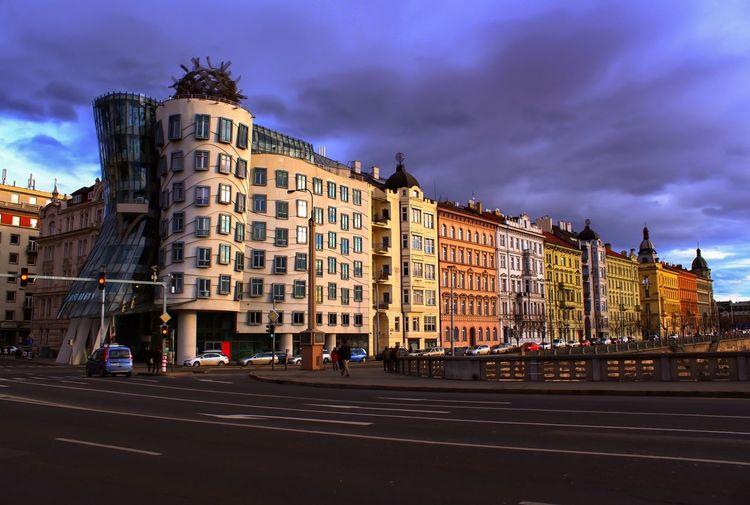 Prague,dancing house Architecture Cloud - Sky City