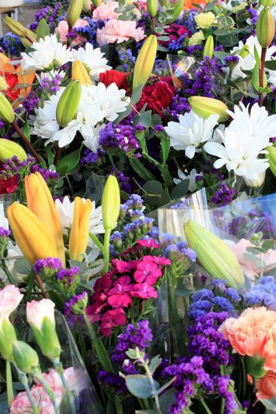 Fresh bouquets ready to bring beauty to one's home. Beauty In Nature Bouquet Farmer's Market Flower Flower Head Flower Market Fragility Freshness Multi Colored Nature Petal