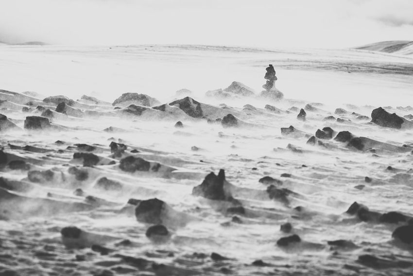 Snowstorm Iceland Iceland Memories Winter Beach Beauty In Nature Day Horizon Iceland_collection Land Motion Nature Outdoors Power In Nature Scenics - Nature Snow Snowstorm Surface Level Tranquility Wind