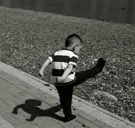 capturing the moment Child Child Black And White Blackandwhite Blackandwhite Photography Black & White Silhouette Kids Kid Playing Playground Photography Photo Photooftheday Photoshoot EyeEm Best Shots EyeEm Nature Lover Eyem Child Childhood Full Length Standing