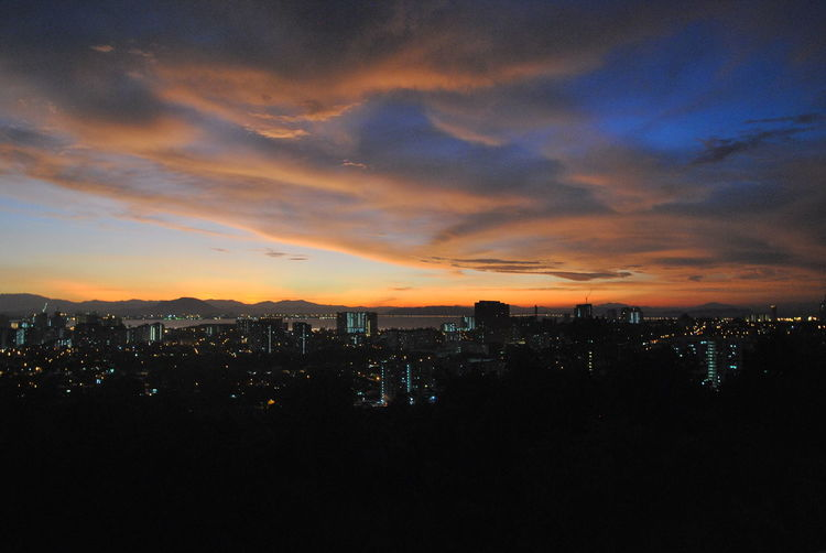 Sunset from my home. Architecture Boulevard Condo Building Exterior Built Structure City Cityscape Cloud - Sky Georgetown High Angle View Illuminated Nature Night No People Outdoors Penang Sky Skyscraper Sunset Urban Skyline