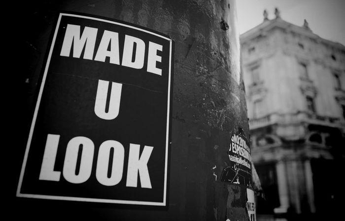 Street Sign Milano Blackandwhite Madeyoulook