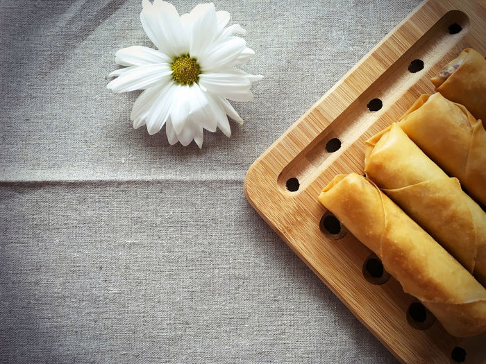 Spring Roll Deep Fried  Flower Food