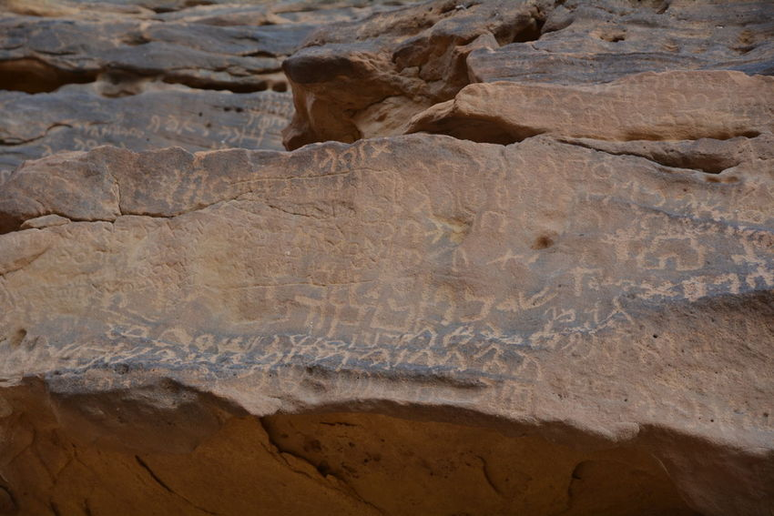 Inscriptions and writings of the Kingdom Lihyan AL Ola Al-ʿUla Archeology Art Camel Camels Epigraphy Inscription Language Lihyan Nature No People Rock - Object