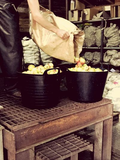Scrumping! Apple Juice Pressing Apples Scrumping Apple Autumm Fruits Autumm Fruits Food And Drink Food Freshness Retail  Healthy Eating Wellbeing For Sale Business Preparation  One Person Men Preparing Food