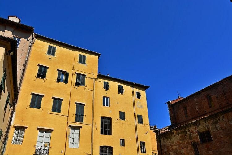 Lucca Italy Architecture Blue Building Exterior Built Structure City Clear Sky Day Low Angle View No People Outdoors Residential Building Sky Window
