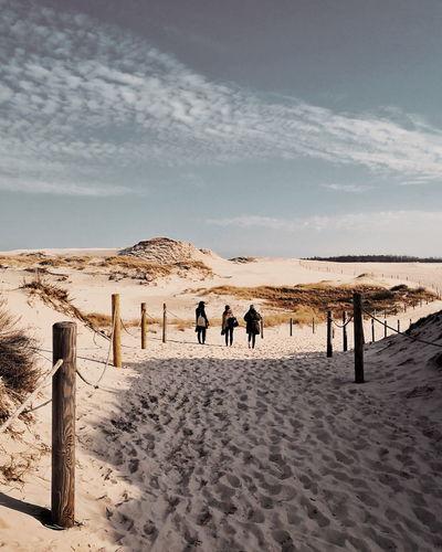 Łeba Sand Dune Salt - Mineral Desert Beach Sea Arid Climate Sand Water Full Length Men Barren Salt Lake Alicante FootPrint Salt Basin Arid Landscape Salt Flat Extreme Terrain Buried Sandy Beach Paw Print Drought