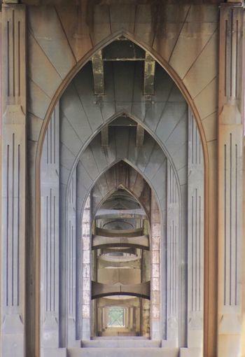 IPhone Photography Bridge Bridge Structure Cathedral Architecture Newport Oregon Newport Bay Bridge Perspective Concrete The Week On Eye Em