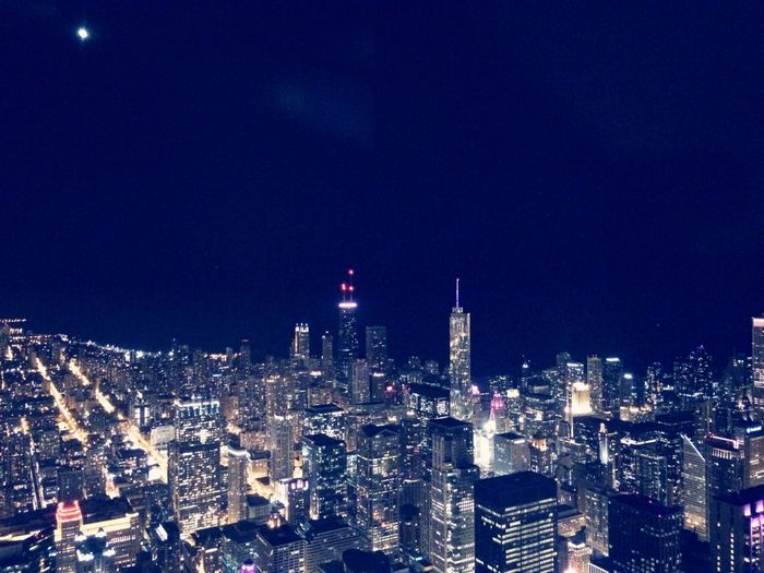 From the Highest Building in Chicago in the Night Lights ???