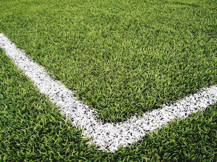 Soccer Field High Angle View Grass Green Color First Eyeem Photo