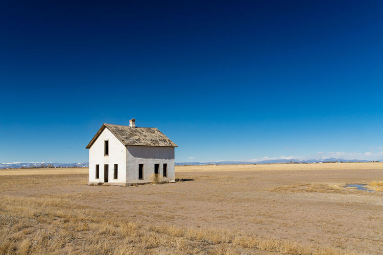 Road trip vfrom Boulder to Tucson Empty House Architecture Blue Clear Sky Day House Landscape No People Outdoors