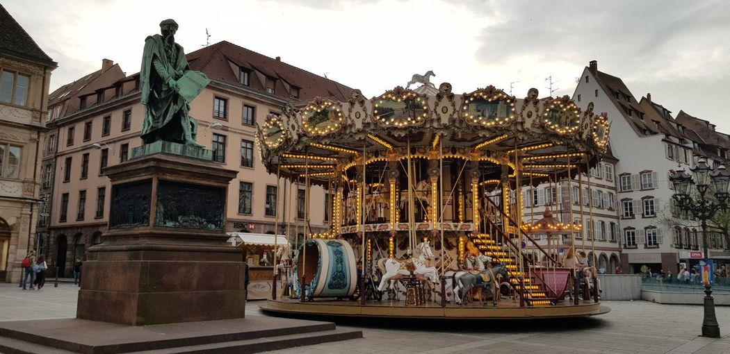 City King - Royal Person Politics And Government Arts Culture And Entertainment History Sky Architecture Carousel Carousel Horses Fairground Ride Ride Ferris Wheel Merry-go-round Chain Swing Ride Sculpture Statue EyeEmNewHere