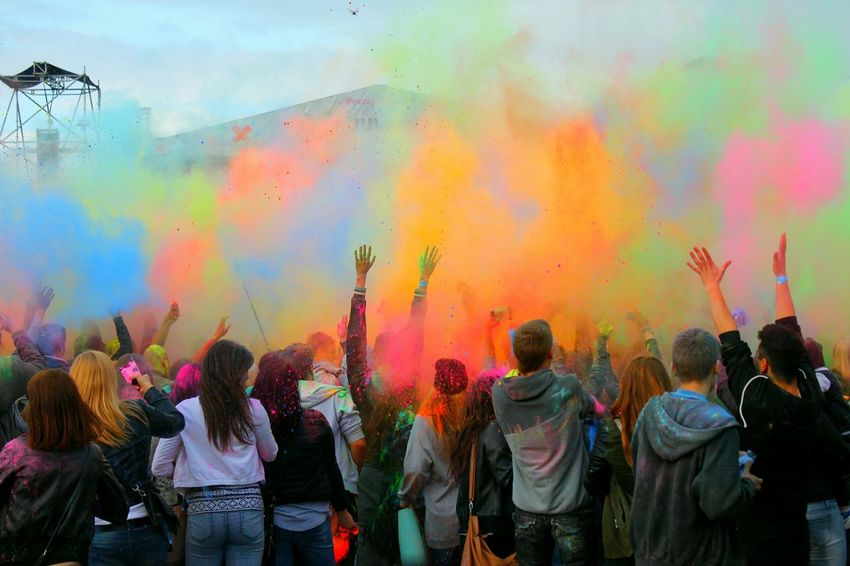 Splash Of Colors Festival Of Colors Holi Festival Colorful People Fun Times Szczecin Poland