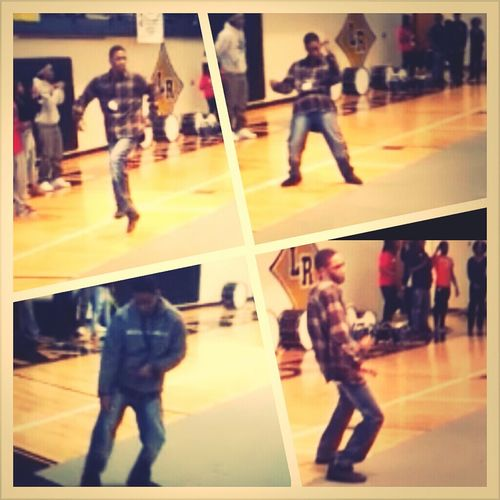 Homeboy was getting it at the pep rally, ctfu