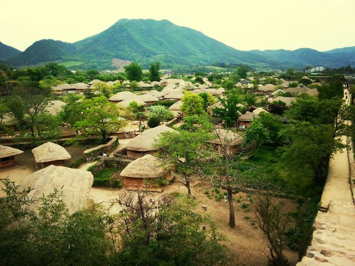 Travel Old House korean traditional thatched house