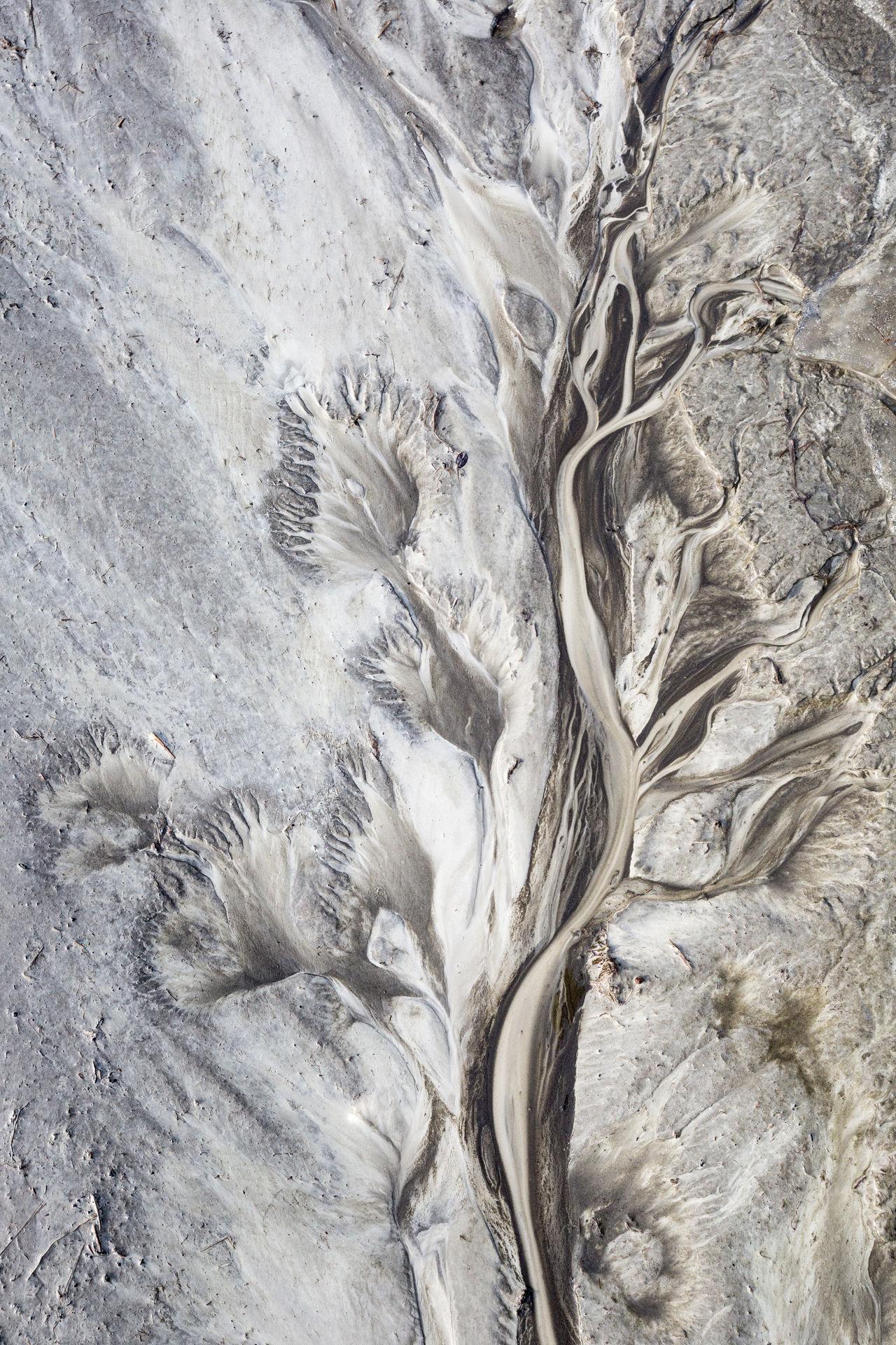 High angle view of sand