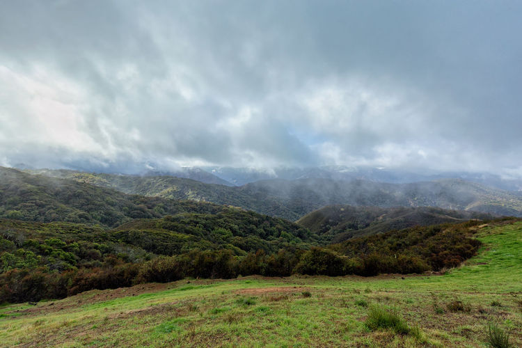 Storm clouds in the Los Padres National Forest in California. Autumn California Hiking Los Padres National Forest Monterey Monterey Bay Northern California Rural United States Winter Adventure Beauty In Nature Clouds Countryside Day Fall Fog Landscape Nature No People Oak Outdoor Outdoors Snow