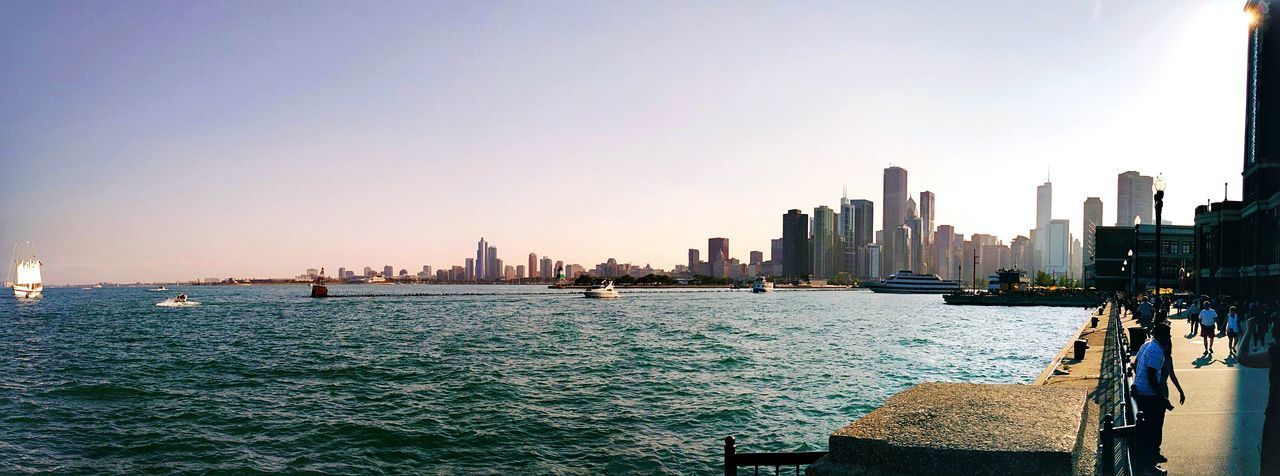 Panorama of Chicago as seen from Navy Pier Chicago Panorama Panoramic Photography City Cityscape Lake Michigan Chicago Architecture Architecture Chicago Skyline Cityscapes