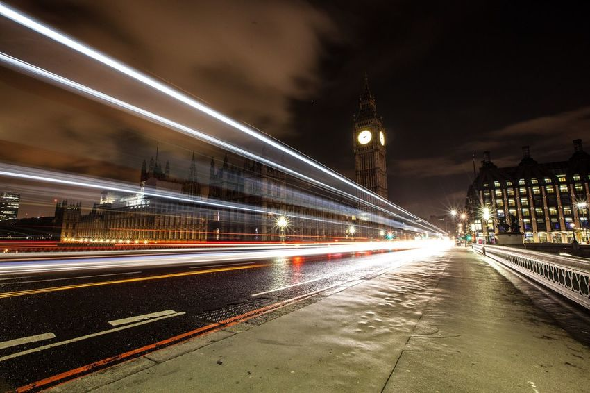 London Big Ben Timelapse Light Streaks Westminster Traffic Westministerbridge
