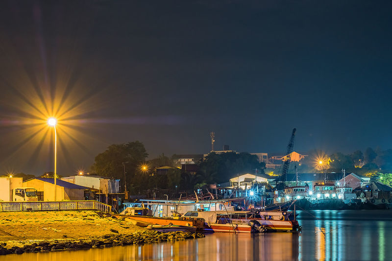 Taking Night Landscape At Wilayah Persekutuan Labuan, Night Photography Built Structure Long Exposure Nature Nautical Vessel Night Night View Outdoors Sky Water EyeEmNewHere Stories From The City