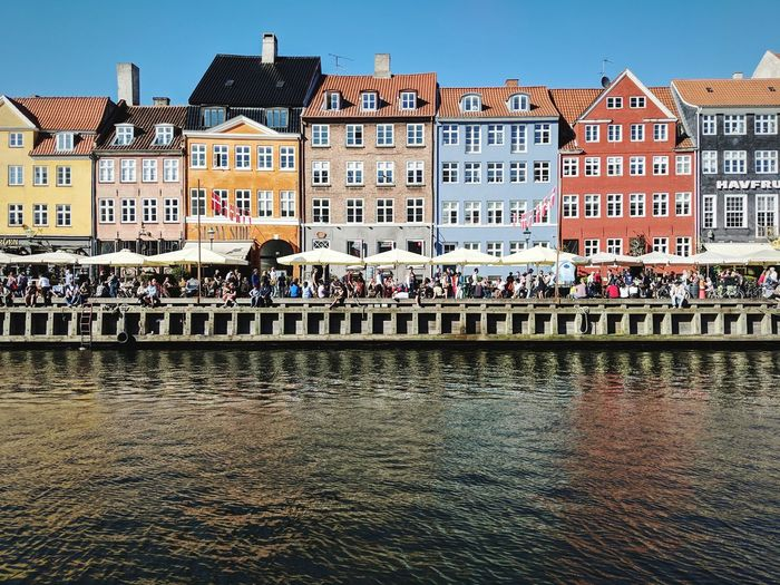 Colours Denmark Copenhagen Water City Sky Architecture Building Exterior Built Structure Townhouse Tiled Roof  Canal Old Town TOWNSCAPE Historic Façade Row House Waterfront Place Of Interest