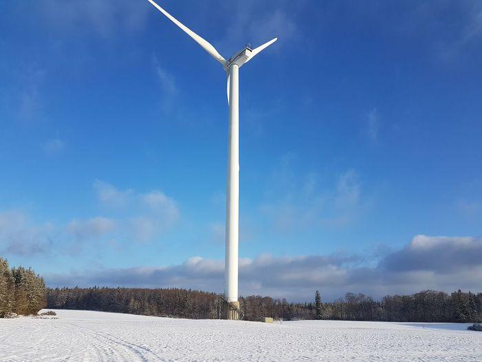 Sunny☀ Snow ❄ Wind Turbine Wind Power