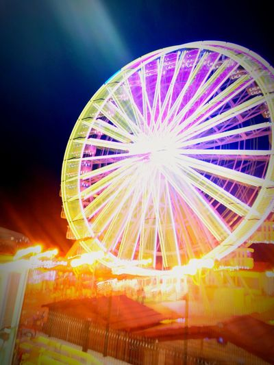 Grand Roue Algérie Illuminated Multi Colored Ferris Wheel Arts Culture And Entertainment Amusement Park Amusement Park Ride Sky Light Painting First Eyeem Photo