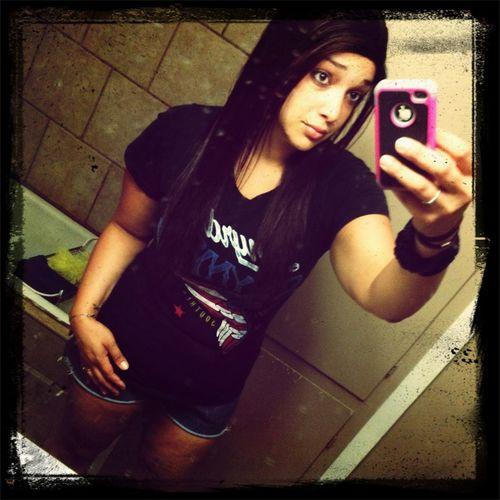 From earlier. Just me. The selfie queen. Lol