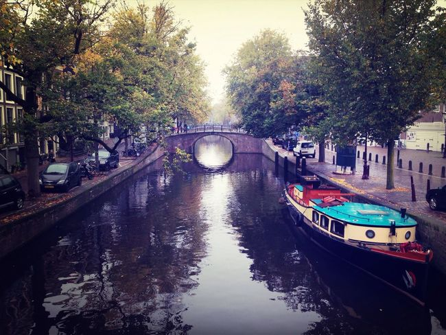 The canals of adam-town. Amsterdam Water Traveling Exploring