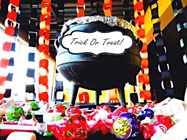 Happy Halloween Sweet Treats  Witches Couldron Trick Or Treat