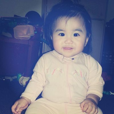Came home to this Little Girl :) Mystressreliever Happy baby allsmiles love her cutie pink onesies