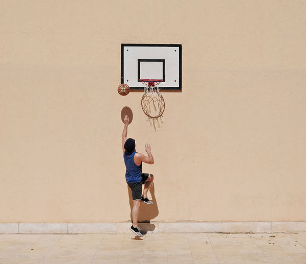 View Of Man Playing Basketball