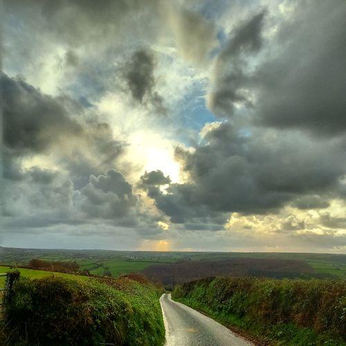 View towards Modbury Landscape_Collection Landscape Devon Clouds And Sky