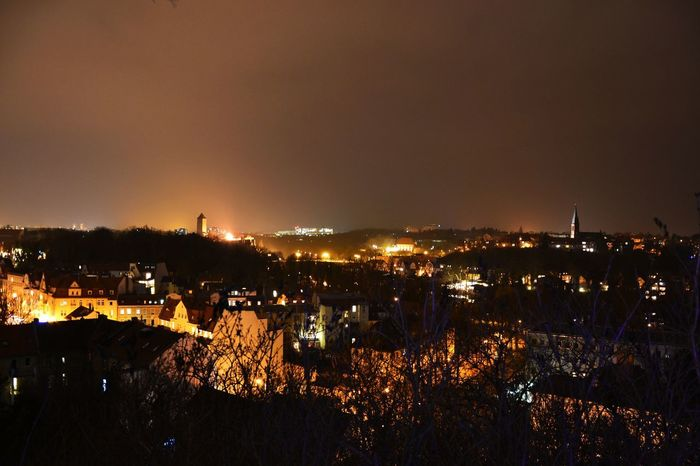 Skyline of Halle-Saale. Picture taken with Nikon D3100. Skyline Romantic Lights Outdoors No People Sky City Cityscape First Eyeem Photo EyeEmNewHere