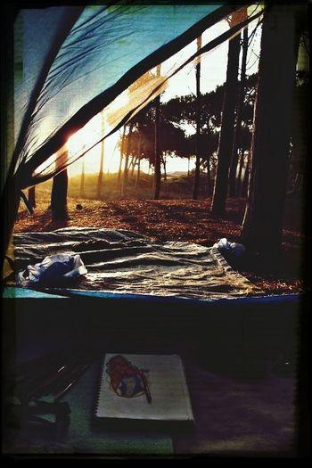 Camping Sunset Nature Peaceful