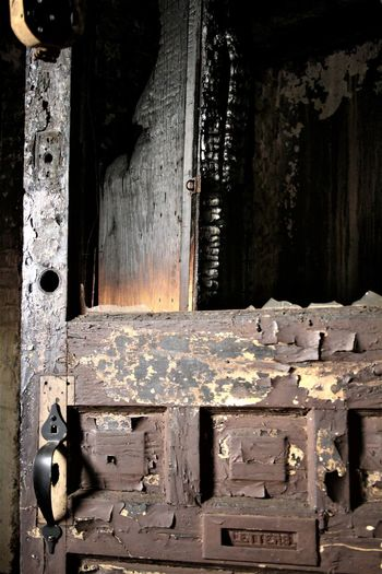 Abandoned Abandonned Building Close-up Creepy House Damaged Door Fire Metal No People Ruined Urbex Wood